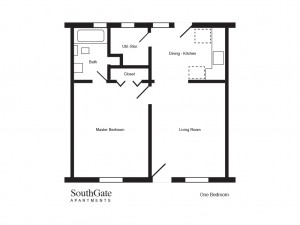 SouthGate-One bedroom floor plan