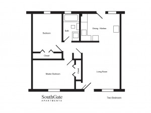 SouthGate-Two bedroom floor plan